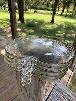 Hazel Atlas Orchard Apple Clear Luncheon Plates LOT OF 5 Vintage