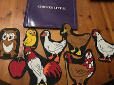 Vintage Chicken Little The Storyboard 1989 Felt