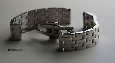 NEW Unisex 16mm Solid 5 Row Stainless Steel Watch Band Bracelet For Men or Woman