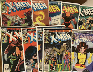UNCANNY X-MEN ~ Lot Of 10 Issues ~ # 167-178 (missing 171, 175) Free Shipping!