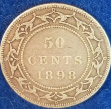 1898 Silver Newfoundland 50 Cents  ID #81-4
