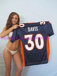 Terrell Davis Denver Broncos authentic Reebok double stitched blue 30 jersey NEW