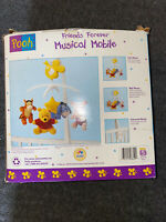 VINTAGE CLASSIC WINNIE THE POOH MUSICAL MOBILE WITH EEYORE  PIGLET & TIGGER