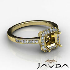 Diamond Engagement Ring F-G Color 18k Yellow Gold Asscher Shape Semi Mount 1Ct