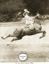 RARE Vintage SIDESADDLE Antique FRENCH CIRCUS Horse PHOTO *CANVAS* Art PRINT
