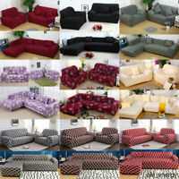 1 2 3 4 Seater Stretch Sofa Covers Couch Slipcover Chair Loveseat Protector USA