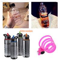 Flip Tritan Straw Drinks Gym Hydration Water Bottle Bike Cycling Hiking
