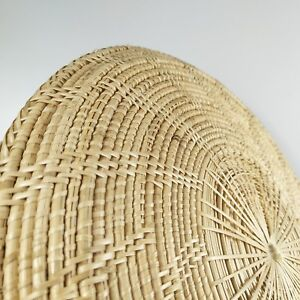 Wall Art round Weave Rattan tray natural handmade basket home decor boho farm