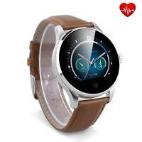 Smartwatch FTKH8 Pulsuhr Smartband Uhr Fitnessarmband Tracker Leder Sport Uhr