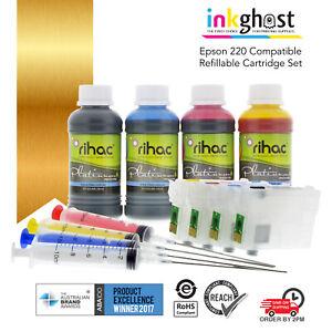 RIHAC refillable 220 ink cartridges alternative for Epson Workforce WF-2750 2760