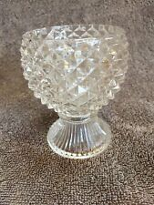 AVON GLASS DIAMOND FOOTED  CUP DISH HOBNAIL VOTIVE CANDLE HOLDER