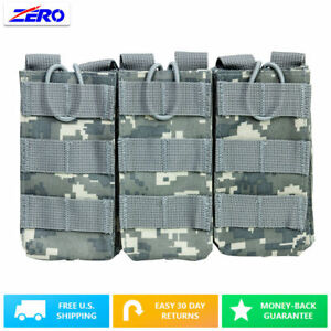 Digital Holds 3 Rifle Triple Magazine Pouch Holster MOLLE PALS Bungee Retention