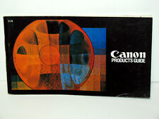 Canon Guide Book with Lens Interchangeability Guide, - .Very Good Condition!