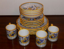 HAND PAINTED RAFFAELLESCO DERUTA DINNERWARE SET 16 PCS