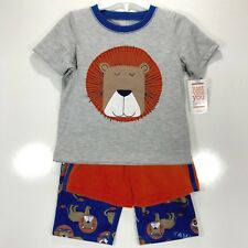 Just One You Baby Boys Size 18 Months Three Piece Lion Pajamas Sleep Set Blue