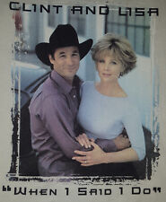 VTG Clint Black XL T Shirt When I Say I Do Lisa Brand Rare Country OOP NEW