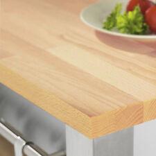 Rustic Beech Worktop, Solid Wood Timber Worktops 3m x 620 x 27mm, 40mm Staves
