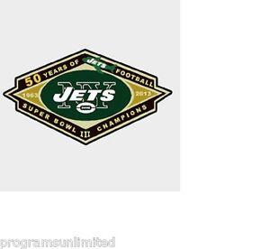 NEW YORK JETS 50TH ANNIVERSARY SUPER BOWL III CHAMPIONS 1963-2013 LAPEL PIN