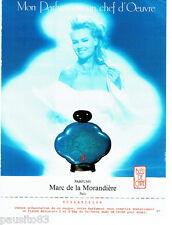 PUBLICITE ADVERTISING 046  1988  Marc de la Morandière  parfum  Bleu de Chine