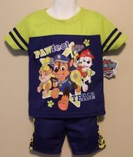 BOYS 2T Paw Patrol 2-piece outfit / t-shirt & shorts NWT Chase Rubble Marshall