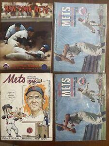 1968, 1969(2), 1971 New York Mets YEARBOOK/SCORECARD LOT (4), Miracle Mets!