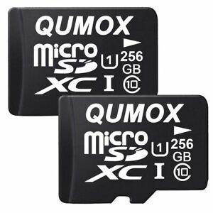 2x QUMOX 256GO MICRO SD MEMORY CARD CLASS 10 UHS-I 256Go
