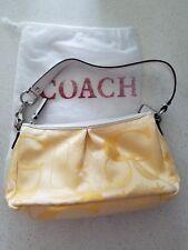 Authentic Coach Yellow Signatured bag