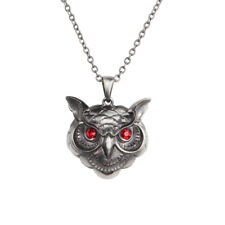 Owl Head Necklace w Red Eyes.
