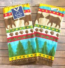 Dish Towels Set of 2 Bears Prints Camping Lodge House 100% Cotton Dish Towel New
