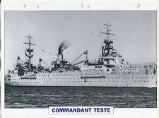 PHOTO BATEAU MILITAIRE 1929 FRANCE COMMANDANT TESTE PORTE AERONEFS HYDRAVIONS
