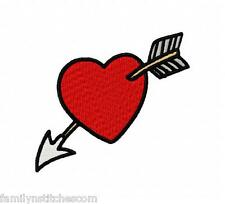 Hearts & Arrows Valentines 14 Machine Embroidery Designs CD 4x4 multi formats