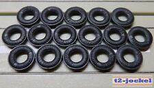 Für H0 Slotcar Racing Modellbahn -- 16 Reifen für Flachanker oder Blockmotor