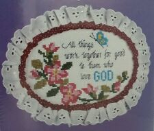 Beadshine Oval Counted Cross Stitch Kit Trim n Wire 8404 Lois Thompson 1987