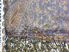 "faux pashmina shawl wrap Indian yellow n black 30 x 78"""