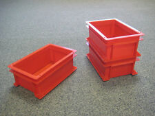 10 New Plastic Storage Crates Box Container 5L Red