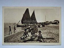 RICCIONE barca vela sailing carretto gelati animata spiaggia Rimini cartolina