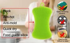 Silicone Dish Washing Sponge Scrubber Kitchen Cleaning Antibacterial
