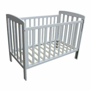 Childcare Bristol Baby Cot Toddler Bed (White) - Adjustable Base Height