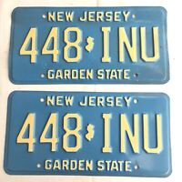 Vintage 90's Pair of NEW JERSEY License Plate, Blue (3)