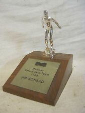 vintage trophy wood base metal swimmer swim figure Miramar Club 1966 team award