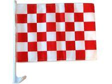 "12x18 Red White Checker Checkered Race Car Window Vehicle 12""x18"" Flag"