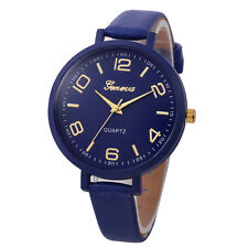 Women Geneva Stainless Steel Watch Leather Analog Quartz Casual Wrist Watches