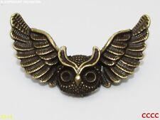Steampunk broche insignia con Pin Bronce alas voladoras con dibujo de búho aves de vuelo Harry Potter