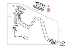 Genuine BMW E60 E60N E61 E61N E63 E63N Adapter for fuel tank OEM 16146750466