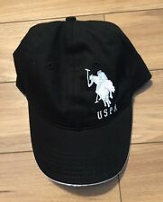 USPA US POLO BASEBALL HAT CAP NWT Black