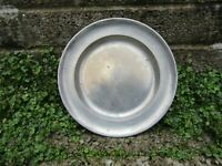 Antique pewter plate - 18th century touch marks antique - bar decor