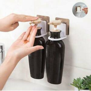 Bathroom Wall Mounted Rack Hooks Strong Suction Cup Shower Gel Shampoo Holder n