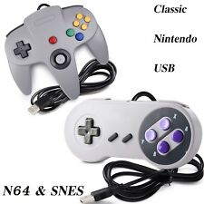 N64 & SNES USB Controller Gamepad for Windows PC Mac Raspberry Pi 3 Gray