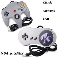 N64 & SNES USB Controller Gamepad for Windows PC Mac Raspberry Pi 3 Gray