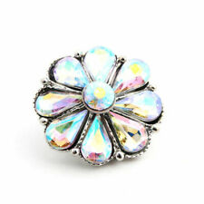 Rhinestone Drill Snaps Chunk Charm Button Fit Noosa Leather Bracelets N.31